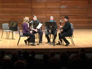The Bassilisk Quartet: SOU students Christina Dietlein, Tad Biggs, Andrew Farina & Randy Nguyen