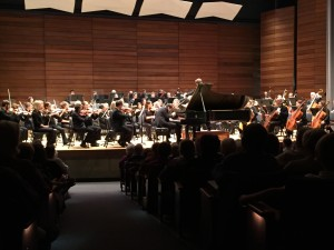 Piano soloist Stanislav Khristenko performs Rachmaninoff's Piano Concerto No. 2 with Rogue Valley Symphony, directed by Martin Majkut, during their Masterworks Series I Concert, Sept. 25, 2015 at S.O.U. Music Recital Hall, Ashland, OR.
