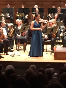 Violin soloist Bella Hristova performing Sergei Prokofiev's Violin Concerto No. 1 with the Rogue Valley Symphony