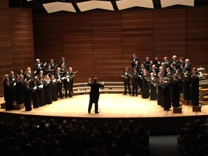 """Southern Oregon Repertory Singers, directed by Dr. Paul French, performing Josef Rheinberger's (Excerpts from) Mass in E-flat Major, """"Cantus Missae"""", during Bright Orb of Harmony Concert on Oct. 26, 2014"""