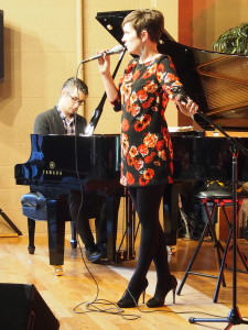 Pianist Josh Nelson and vocalist Sara Gazarek (Duo Project) perform during Siskiyou Music Project jazz concert on March 13 in Medford. Photo by Ed Dunsavage