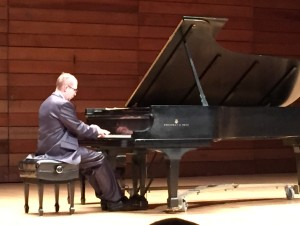 Internationally acclaimed pianist, Alexander Tutunov, performing during Tutunov Piano Series concert in Ashland, OR on Oct. 17, 2014
