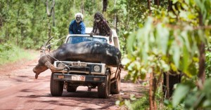 Charlie's lifelong friend, Black Pete (Peter Djigirr) and Charlie (David Gulpilil) go hunting for buffalo in Charlie's Country, courtesy of Monument Releasing