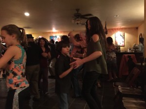 "The audience was a diverse cross-section: all shapes, sizes, a wide diversity of ages, races, pairings, dress, appearance, etc. at ¡Salsa Brava!'s ""Last Dance of the Season"" at Paschal Winery in Talent, OR on October 10, 2015"