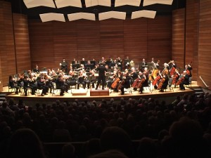 """Rogue Valley Symphony directed by Martin Majkut, perform Smetana's """"Overture to the Bartered Bride"""" during 2015-16 Season Masterworks 2 Concert on Oct. 16, 2015 at S.O.U. Music Recital Hall in Ashland, OR"""