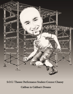 Original Caricature of Connor Chaney by Reviewer Lee Greene