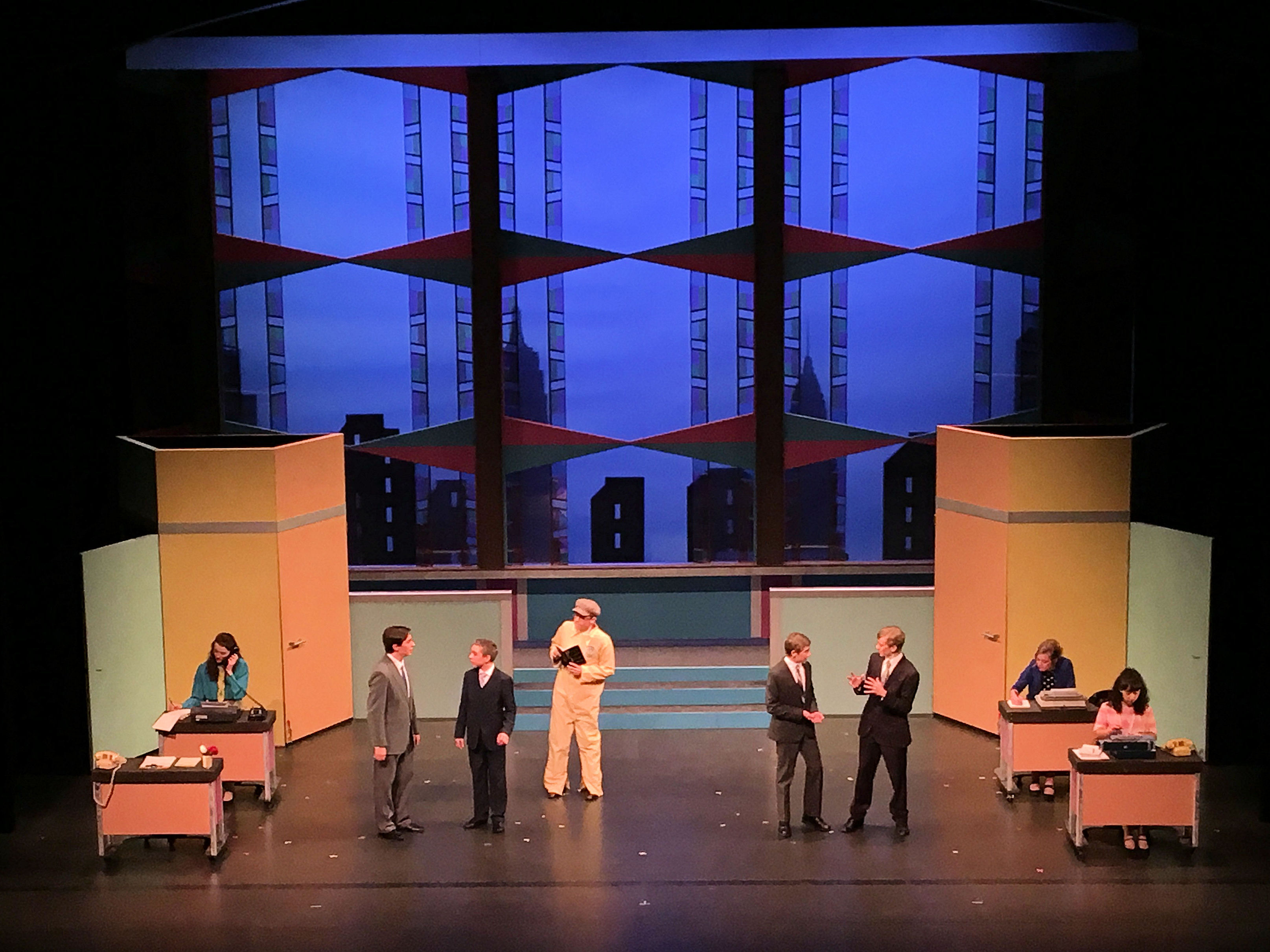 teen music theater s how to succeed in business performing arts window washer j pierpoint finch braden day arrives at world wide wickets co