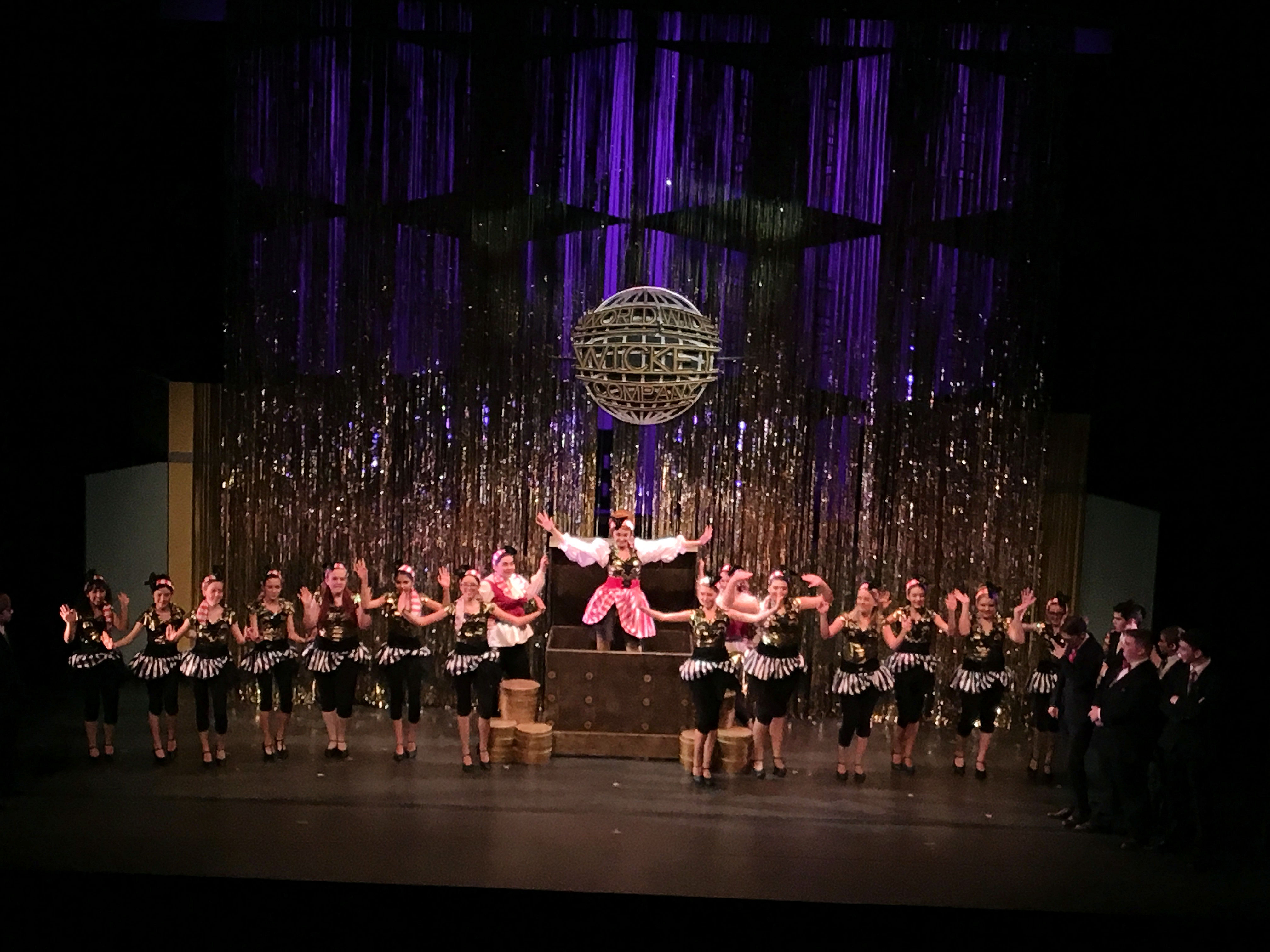 teen music theater s how to succeed in business performing arts world wide wicket treasure girl hedy larue the treasure hunt girls emerge from a giant