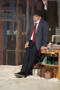 "Peter Alzado as artist Mark Rothko in Ashland Community Theatre's ""Red""."