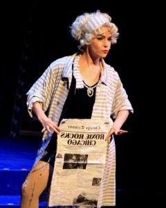Deanna Ott as Roxie Hall in Oregon Cabaret Theatre's Chicago