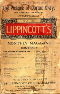 July 1890 issue of Lippincott's Monthly Magazine presenting the original version of Oscar Wilde's The pictyre of Dorian Gray