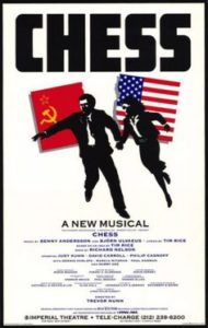 Theater poster for the 1988 Broadway production of Chess